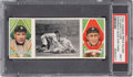 Baseball Cards:Singles (Pre-1930), 1912 T202 Hassan A Desperate Slide For 3rd - O'Leary/Cobb PSA NM 7 - Pop Five, Only One Higher. ...