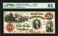 Petersburg, VA- Bank of the City of Petersburg $20 18__ as G6b as Jones-Littlefield BP25-30 Proof PMG Choice Uncirculate...