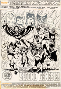 Dave Cockrum Giant-Size X-Men #1 Splash Page 1 All-Stat Production Page (Marvel, 1975)