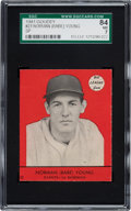 Baseball Cards:Singles (1940-1949), 1941 Goudey Norman Babe Young (Red-Short Print) #23 SGC 84 NM 7 - Pop One, None Higher! ...