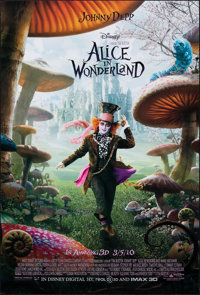 """Alice in Wonderland & Other Lot (Walt Disney Pictures, 2010). Rolled, Very Fine+. One Sheets (3) (27"""" X 40""""..."""