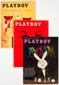 Magazines:Miscellaneous, Playboy 1959 Complete Year Group of 12 (HMH Publishing, 1959) Condition: Average FN-.... (Total: 12 Items)