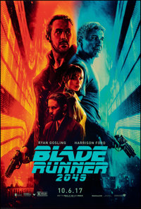 "Blade Runner 2049 (Warner Bros., 2017). Rolled, Near Mint-. One Sheet (27"" X 40"") DS Advance. Science Fiction..."