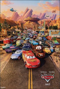"""Cars & Other Lot (Buena Vista, 2006). Rolled, Very Fine+. One Sheets (2) (27"""" X 40"""") DS, Advance. Animatio..."""