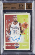Basketball Cards:Singles (1980-Now), 2012-13 Panini Past & Present Kevin Durant Autograph #58 BGS Gem Mint 9.5, Auto 10....