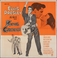 "King Creole (Paramount, 1958). Folded, Fine. Six Sheet (78.75"" X 80""). Elvis Presley"