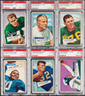 Football Cards:Lots, 1952 Bowman Large Football PSA Graded Collection (6). ...