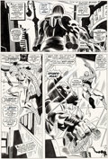 Original Comic Art:Panel Pages, Gene Colan and Frank Giacoia Daredevil #27 Story Page 11 Spider-Man Original Art (Marvel, 1967)....