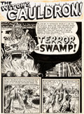 "Original Comic Art:Complete Story, Al Feldstein Vault of Horror #15 Complete 7-Page Story ""Terror in the Swamp!"" Original Art (EC, 1950).... (Total: 7 Original Art)"