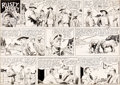 Original Comic Art:Comic Strip Art, Frank Godwin Rusty Riley Sunday Comic Strip Original Art dated 6-21-53 (King Features Syndicate, 1953)....