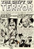 """Original Comic Art:Complete Story, Jack Davis Haunt of Fear #15 Complete 7-Page Story """"Death of Some Salesmen!"""" Original Art (EC, 1952).... (Total: 7 Original Art)"""