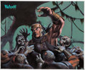 """Original Comic Art:Paintings, Nelson DeCastro Magic: The Gathering: Onslaught """"Feeding Frenzy"""" Card #147 Painting Original Art (Wizards of the C..."""