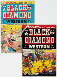 Black Diamond Western #19 and 21 Group (Lev Gleason, 1950) Condition: Average VF.... (Total: 2 Comic Books)