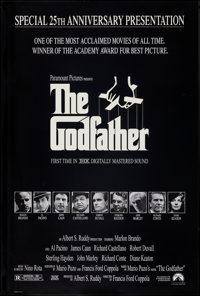 """The Godfather (Paramount, R-1997). Rolled, Fine/Very Fine. 25th Anniversary Mylar One Sheet (26.75"""" X 39.75"""")..."""