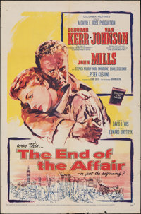 """The End of the Affair & Other Lot (Columbia, 1955). Folded, Fine+. One Sheets (2) (27"""" X 41""""). Drama..."""