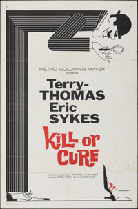 "Kill or Cure (MGM, 1962). Folded, Fine. One Sheet (27"" X 41""). Comedy"