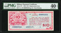 Military Payment Certificates:Series 471, Series 471 $10 Replacement PMG Extremely Fine 40 EPQ.. ...