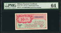 Series 471 10¢ Replacement PMG Choice Uncirculated 64
