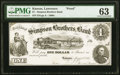 Lawrence, KS- Simpson Brothers Bank $1 Aug. 2, 1861 Whitfield 253r Proof PMG Choice Uncirculated 63