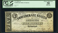 Confederate Notes:1861 Issues, T12 $5 1861 Cr. 46 PCGS Apparent Choice About New 58.. ...