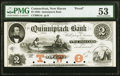 Obsoletes By State:Connecticut, New Haven, CT- Quinnipiack Bank $2 18__ G4a Proof PMG About Uncirculated 53.. ...