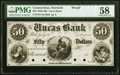Obsoletes By State:Connecticut, Norwich, CT- Uncas Bank $50 18__ as G26 Proof PMG Choice About Unc 58.. ...