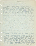 Autographs:Authors, Pearl S. Buck Autograph Manuscript Signed...