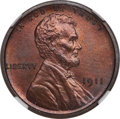 Proof Lincoln Cents, 1911 1C PR67 Brown NGC....