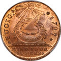 Colonials, 1787 1C Fugio Cent, New Haven Restrike, Copper, MS66 Red and Brown PCGS. N. 104-FF, W-17560....