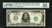Fr. 2210-G $1,000 1928 Federal Reserve Note. PMG About Uncirculated 55