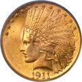 Indian Eagles, 1911 $10 MS65 PCGS. CAC....