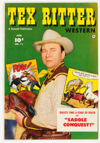 Tex Ritter Western #11 Mile High Pedigree (Fawcett Publications, 1952) Condition: Average FN/VF