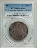 Bust Half Dollars: , 1822 50C -- Environmental Damage -- PCGS Genuine. AU Details. Mintage 1,559,573. ...