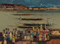 Paintings, Millard Sheets (American, 1907-1989). Tiber River, 1980. Oil on canvas. 29 x 40 inches (73.7 x 101.6 cm). Signed and dat...