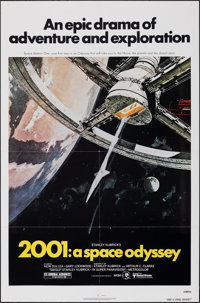 "2001: A Space Odyssey (MGM/UA, R-1980). Folded, Very Fine+. One Sheet (27"" X 41""). Robert McCall Artwork. Scie..."