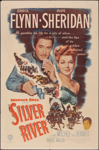 "Silver River (Warner Bros., 1948). Folded, Very Good/Fine. One Sheet (27"" X 41""). Western"