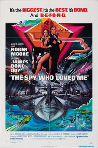 "The Spy Who Loved Me (United Artists, 1977). Folded, Very Fine. One Sheet (27"" X 41""). Bob Peak Artwork. James..."