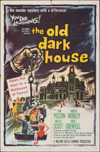 """The Old Dark House (Columbia, 1963). Folded, Fine+. One Sheet (27"""" X 41""""). Comedy"""