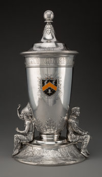 A Gorham Mfg. Co. Enameled Silver Trophy Made for Fenimore Country Club's Samuel Kronsky Championship, Providence, Rh