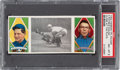 Baseball Cards:Singles (Pre-1930), 1912 T202 Hassan Close At The Plate - Payne/Walsh PSA NM-MT 8 - Pop Two, None Higher. ...