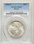 1936-S 50C Boone MS67 PCGS. PCGS Population: (78/3). NGC Census: (34/4). CDN: $660 Whsle. Bid for NGC/PCGS MS67. Mintage...