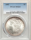 1882 $1 MS64+ PCGS. PCGS Population: (6642/2348). NGC Census: (7628/1485). CDN: $92 Whsle. Bid for NGC/PCGS MS64. Mintag...
