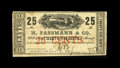 Obsoletes By State:Louisiana, New Orleans, LA- H. Fassman & Co. 25¢ March 22, 1862. ...