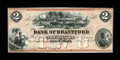 Canadian Currency: , Brantford, ON- Bank of Brantford $2 Nov. 1, 1859 Ch. 40-12-04R. ...