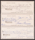 Autographs:Others, Ted Williams Signed Checks, Lot of 5. Offered here...