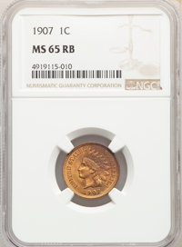 1907 1C MS65 Red and Brown NGC. NGC Census: (219/9). PCGS Population: (183/11). CDN: $150 Whsle. Bid for NGC/PCGS MS65...