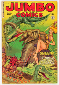 Jumbo Comics #146 (Fiction House, 1951) Condition: FN-