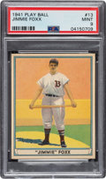 Baseball Cards:Singles (1940-1949), 1941 Play Ball Jimmie Foxx #13 PSA Mint 9 - None Higher. ...
