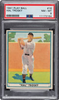 Baseball Cards:Singles (1940-1949), 1941 Play Ball Hal Trosky #16 PSA NM-MT 8 - Only Two Higher. ...