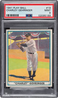 Baseball Cards:Singles (1940-1949), 1941 Play Ball Charley Gehringer #19 PSA Mint 9 - None Higher. ...